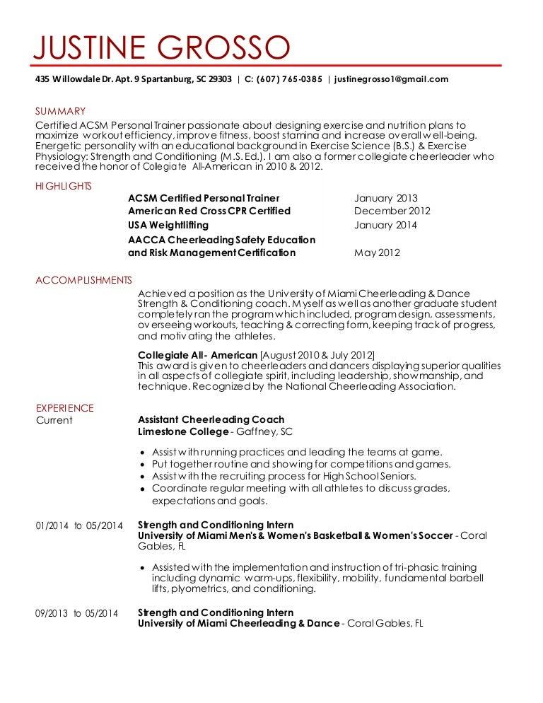 SlideShare  Exercise Science Resume