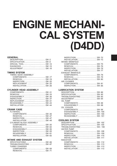 Hyundai D4A engine manual