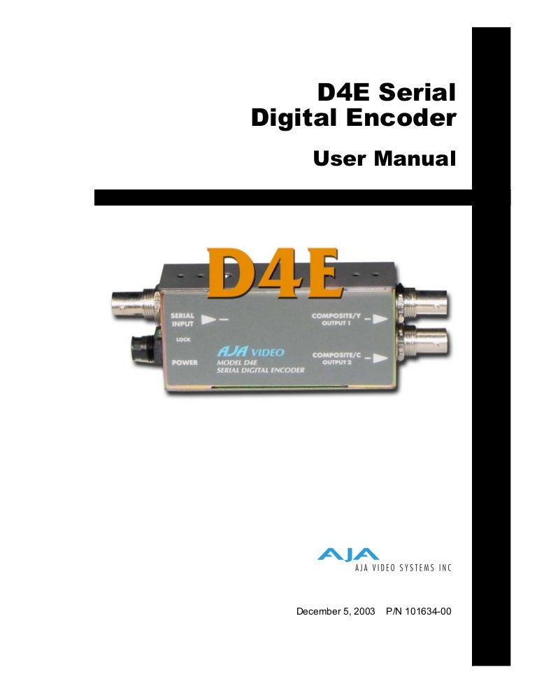 AJA D4E SDI SMPTE 259M 1x BNC Digital Analog Video Serial to NTSC//PAL Encoder