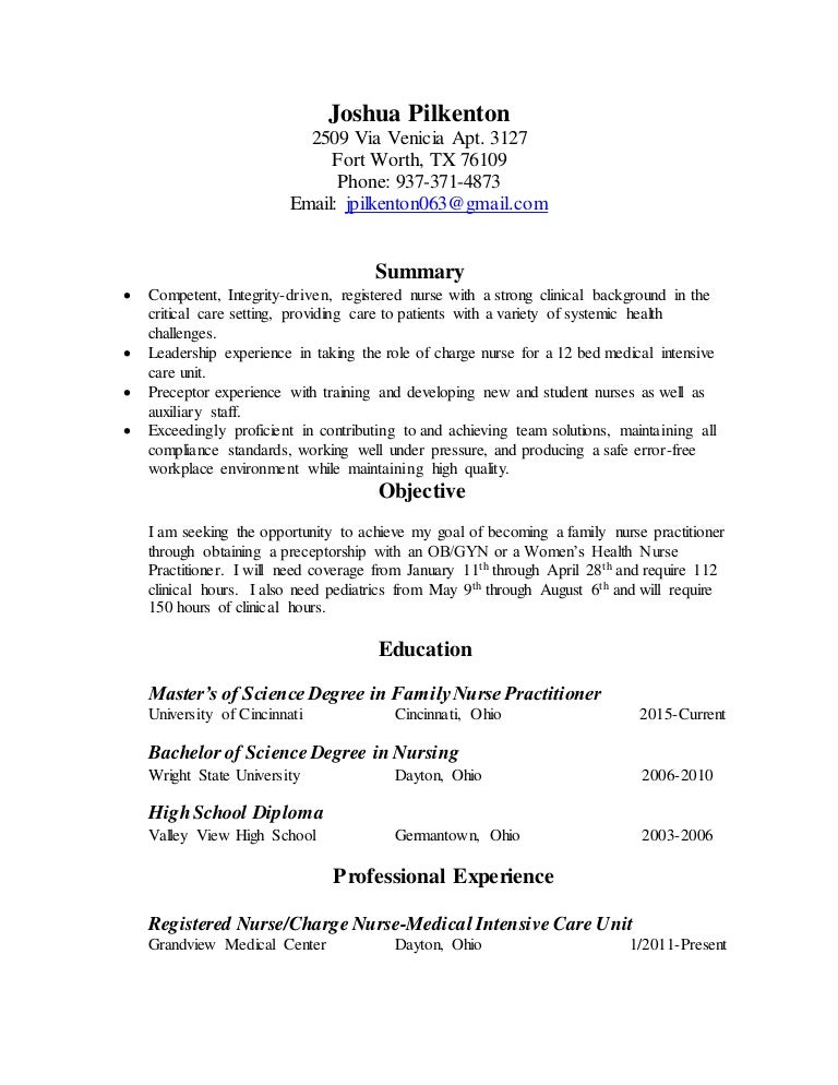 Resume for university admission