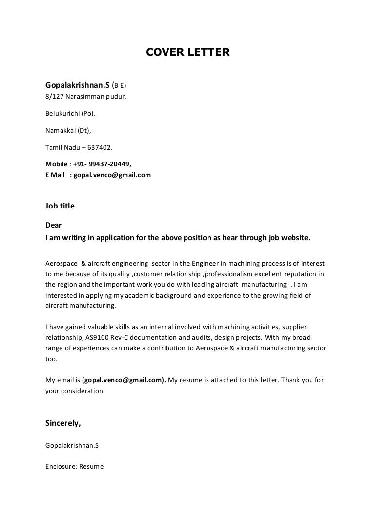 advanced process control engineer cover letter