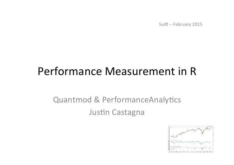 Performance in R