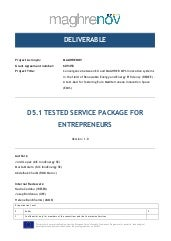 MAGHRENOV deliverable 5.1: Tested service package for entrepreneurs