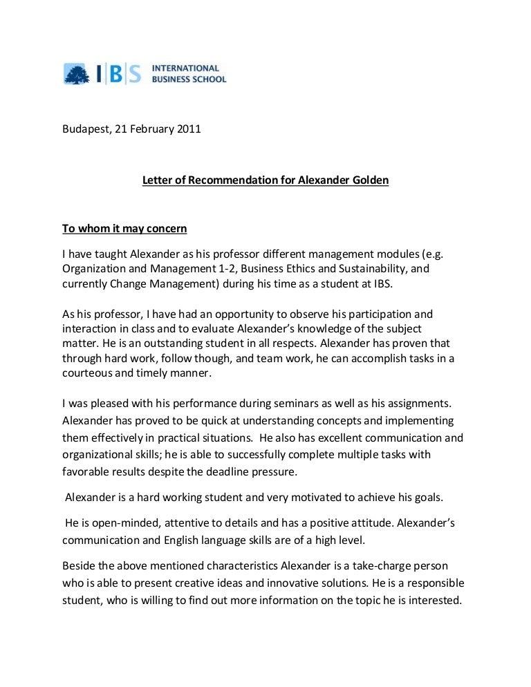 Recommendation Letter Dr Gonda