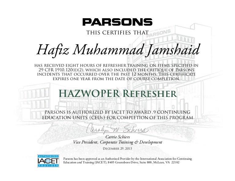 jamshaid_hazwoper certificate