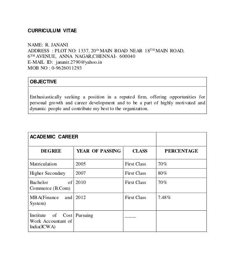 Informatica Resume: Janani Resume (1)-1 2 (1