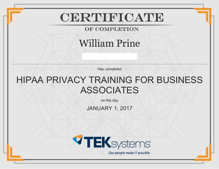 HIPAA Privacy Training for Business Associates
