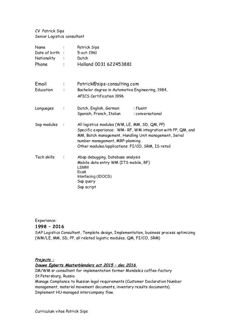 sap crm middleware consultant resume oilfield consultant resume