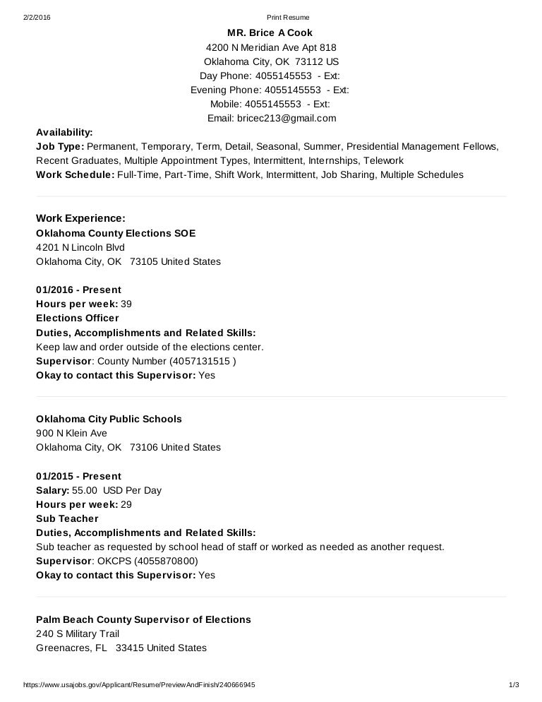 usajobs - resume builder