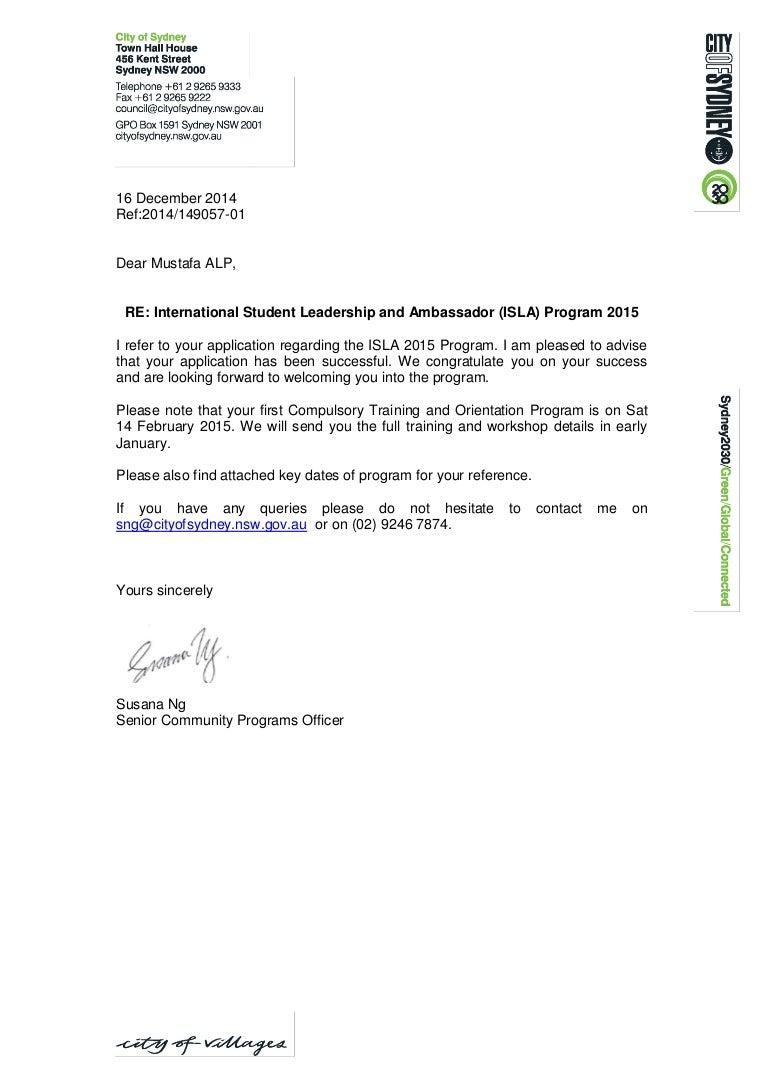 Letter To Applicant Ukrandiffusion