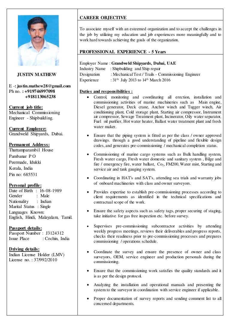 computer engineer resume cover letter drilling Central America Internet Ltd  Mechanical Engineer  Operations   Maintenance  Resume samples