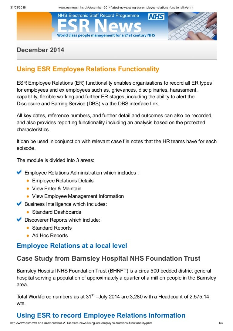 employee relations case study