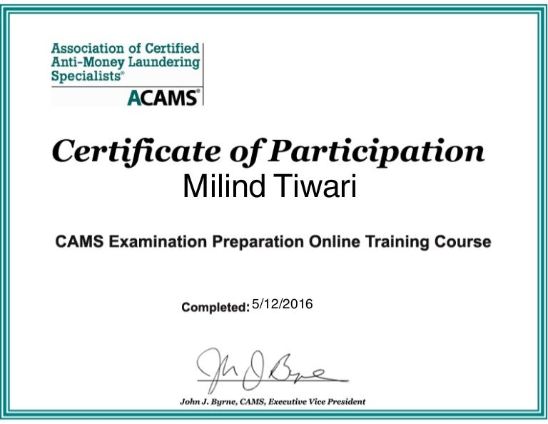 certificate acams slideshare upcoming