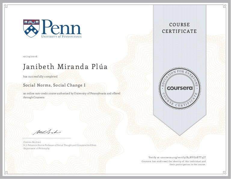 certificate coursera