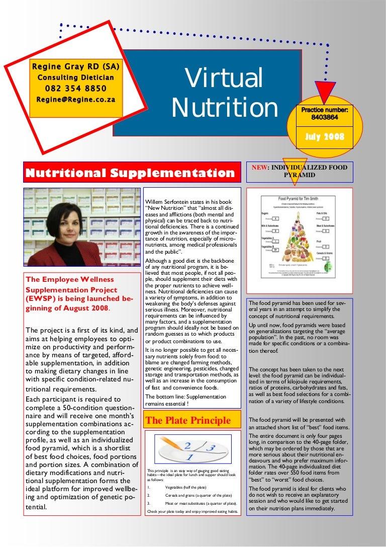 11 July 2008 Nutrition Newsletter