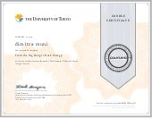 Coursera from dark energy to big bang certificate