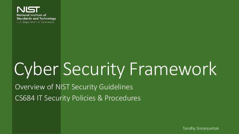 Nist Cybersecurity Framework  An Overview