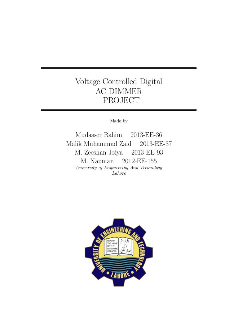 Report Triac Circuits Projects 10