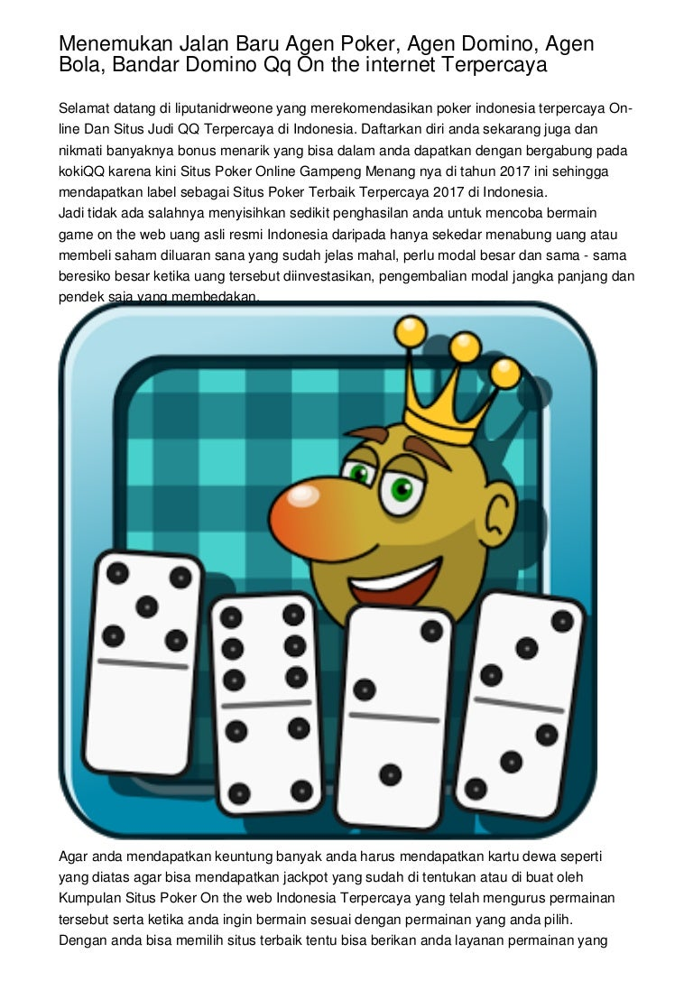 Menemukan Jalan Baru Agen Poker Agen Domino Agen Bola Bandar Domin