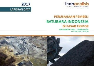 Daftar Pembeli Batubara di Pasar Ekspor 2017 (Bituminous Coking Coal)