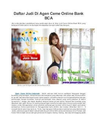 Daftar judi di agen ceme online bank bca