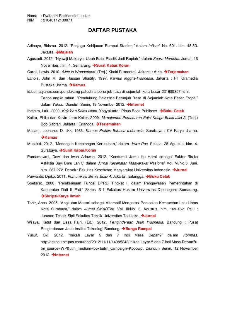 Daftar Pustaka Dwitantri Rezkiandini