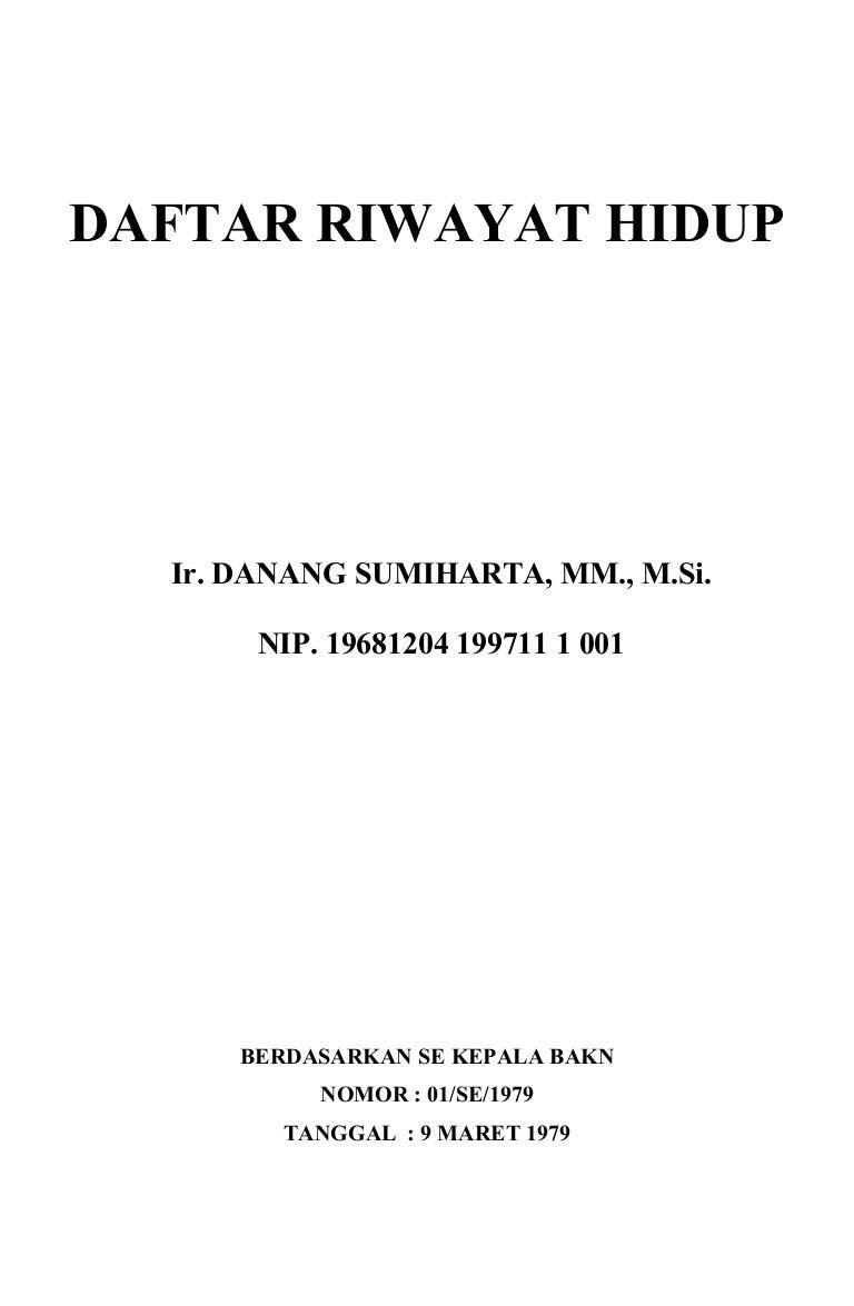 Daftar Riwayat Hidup Pns Danang 13 09 12