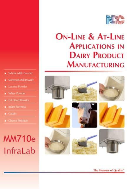 Folleto de productos lácteos en polvo