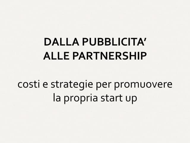 Dalla Pubblicita alle Partnership