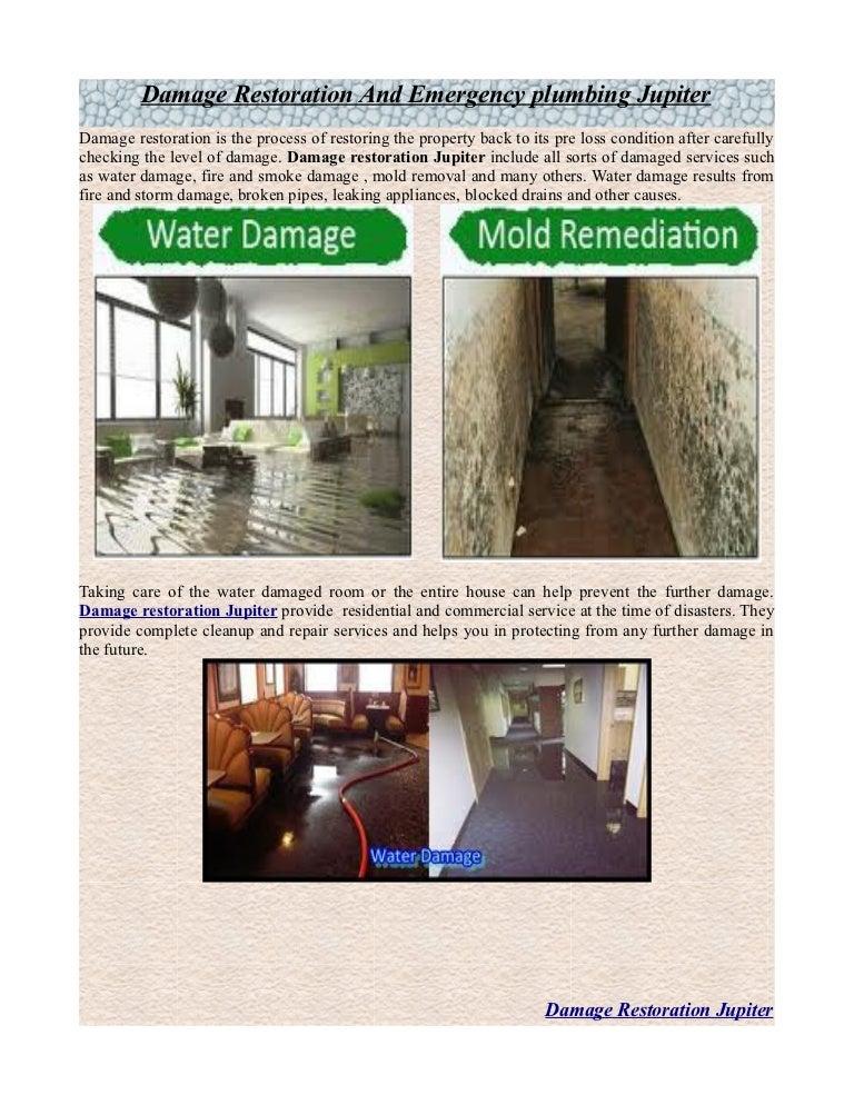 Damage Restoration And Emergency Plumbing Jupiter