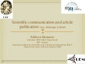 Scientific Communication and article publicitar: new challenges in Brazil