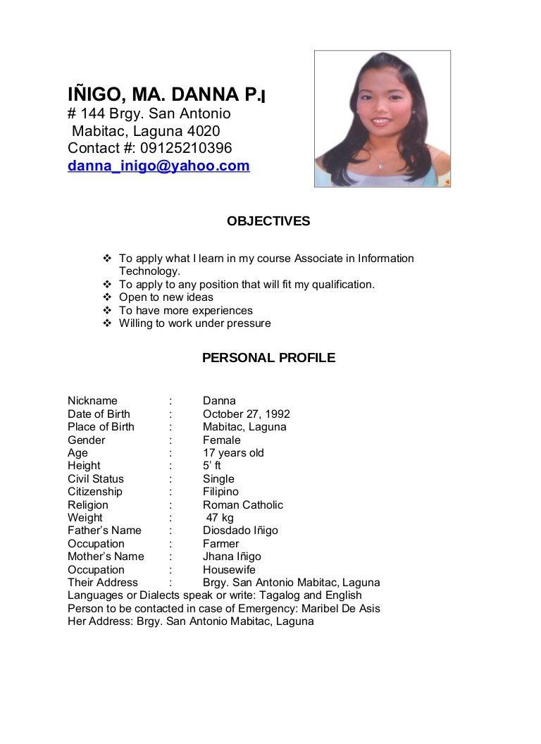 Sample Of Resume For Job Application Filipino Job Resume Samples AppTiled  Com Unique App Finder Engine