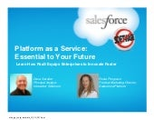 Platform as a Service: Essential to Your Future
