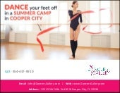 Dance your feet off in a Summer Camp in Cooper City
