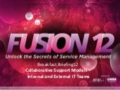 Collaborative Support Models for Internal and External IT Teams - itSMF Fusion 12 #SMFusion12