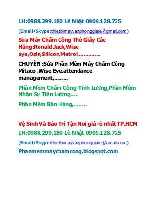 Thay Khoi Mat Doc May Cham Cong Tai Quan 1