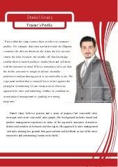 corporate trainer profile sample