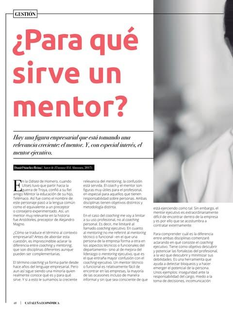 ¿Para qué sirve un mentor?