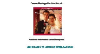 Audiobooks Free Download Dantes Marriage Pact