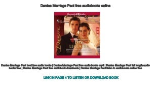 Dantes Marriage Pact free audiobooks online