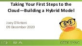 Geek Sync | Taking Your First Steps to the Cloud—Building a Hybrid Model