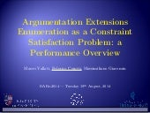 Argumentation Extensions Enumeration as a Constraint Satisfaction Problem: a Performance Overview