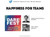 Darefest Belgium 2016 - happiness for teams - management 3.0