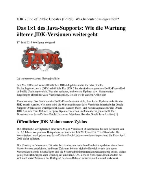 Das 1×1 des java supports wie die wartung älterer jdk-versionen weitergeht
