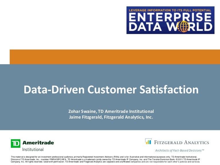 Customer Experience: Data-Driven Customer Satisfaction at TD Ameritra…