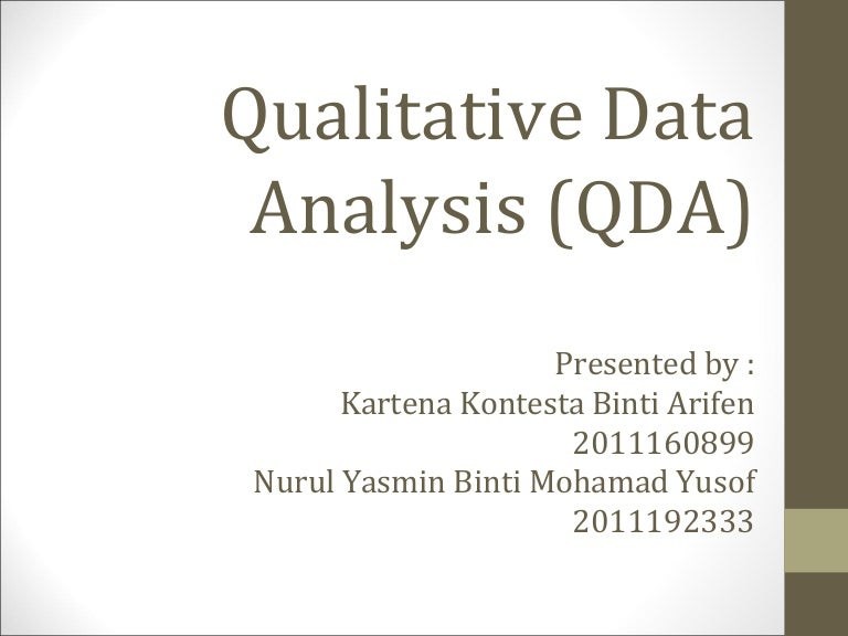 Data analysis – qualitative data presentation 2