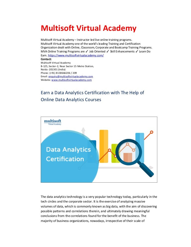 Earn a Data Analytics Certification with The Help of ...