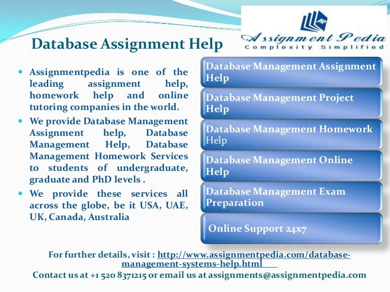 Us assignment database