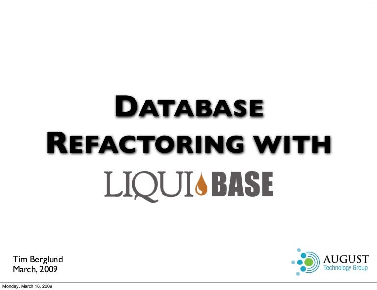 Database refactoring with liquibase altavistaventures Choice Image