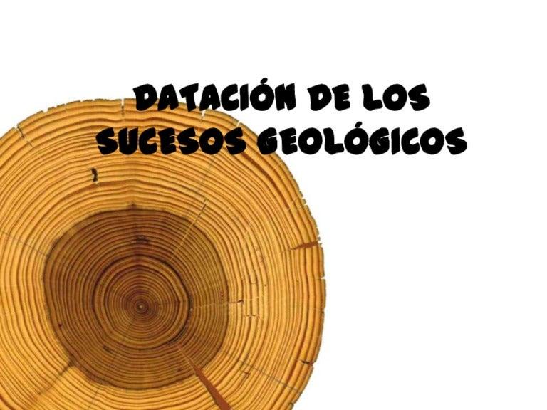 Dataciónes en geología. Datación relativa y absoluta.